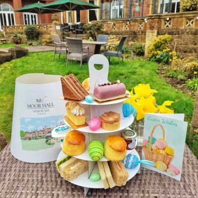 Easter Afternoon Tea to Takeaway from Moor Hall Hotel Spa Sutton Coldfield