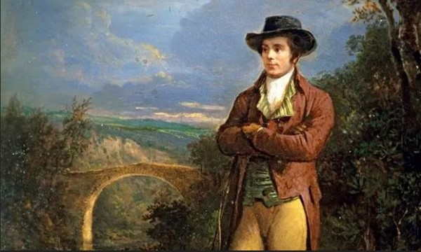 Robert Burns by Alexander Nasmyth from the National Gallery of Scotland