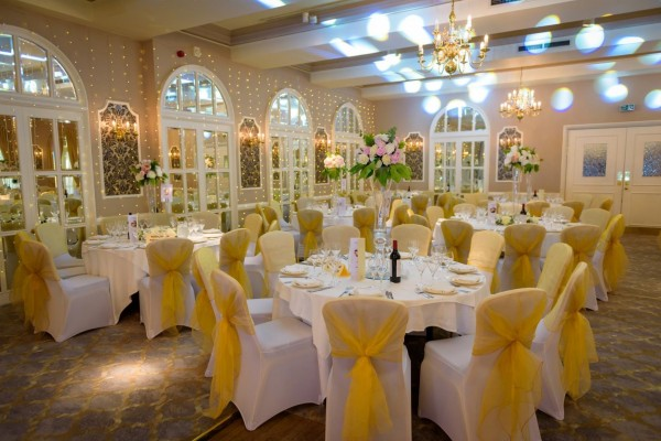 Wedding Reception in the Charter Suite at Moor Hall Hotel